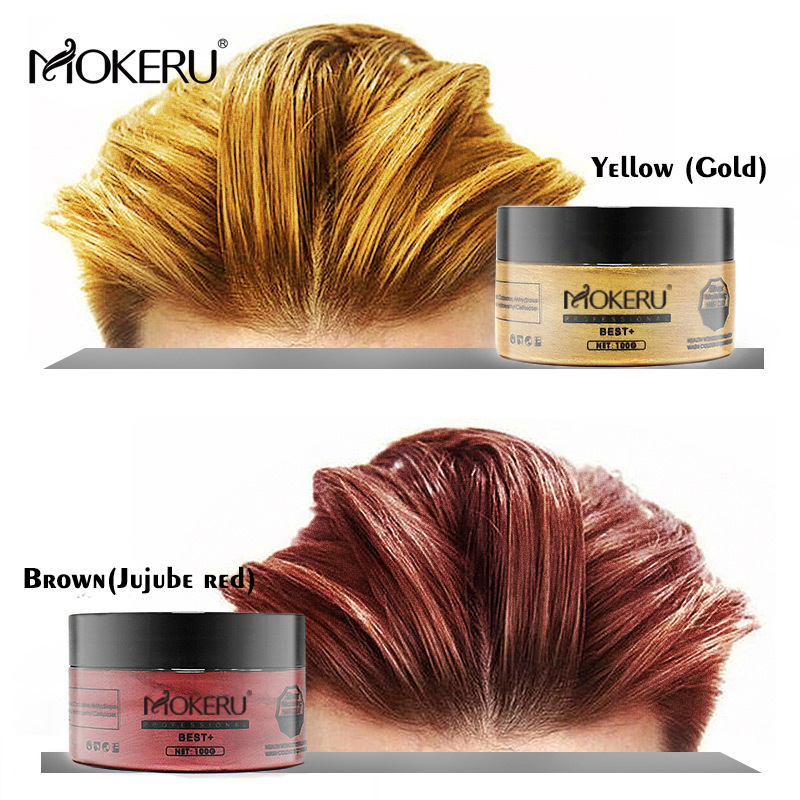 Mokeru 2pc\/lot Hair Paint Wax Grey Ash Brown Hair Color Dye Cream Temporary Hair Dye Mud Wax For