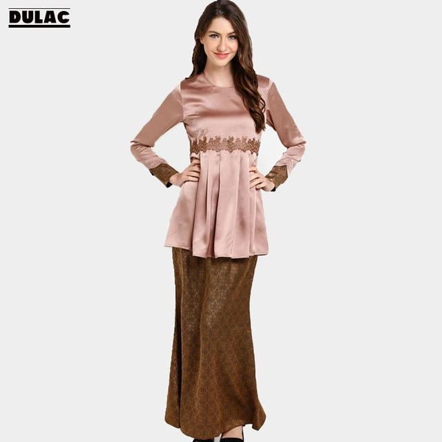 Advanced Customization Wholesale 2018 Middle East Muslim Sets Lace Dress  Islamic Women Clothing Baju Kurung No Stock MOQ 100PCS ca125fa4f40c