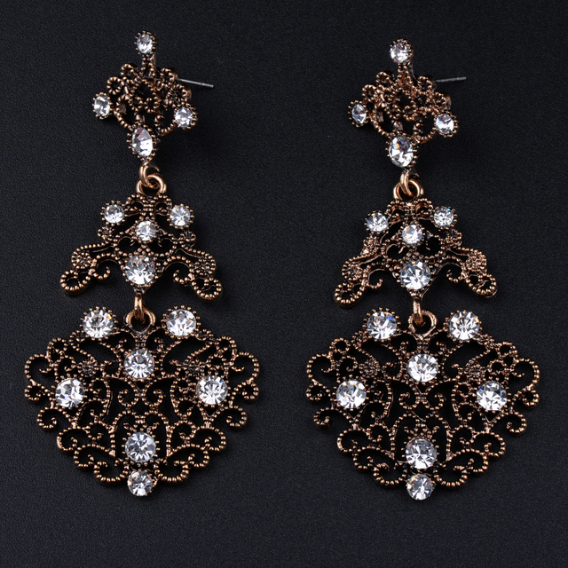 Ec315 baroque royal cz crystal rhinestone vintage gold color dangle ec315 baroque royal cz crystal rhinestone vintage gold color dangle drop chandelier earrings wholesale retail prom mozeypictures Images