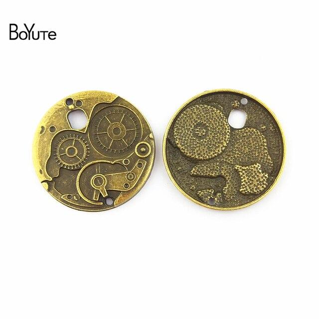 BoYuTe (20 pièces/lot) 38MM Antique Bronze plaqué en alliage de Zinc Steampunk Gear pendentif bricolage bijoux résultats accessoires pièces