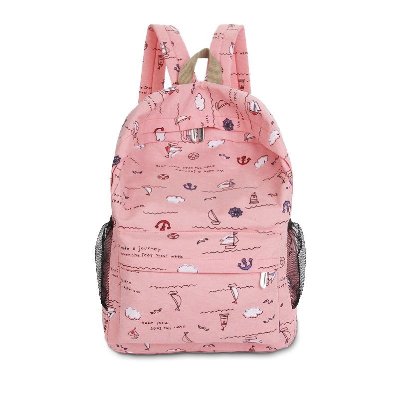Fashion casual canvas Women Backpacks for adolescent girls printing backpack School bags notebook travel bags