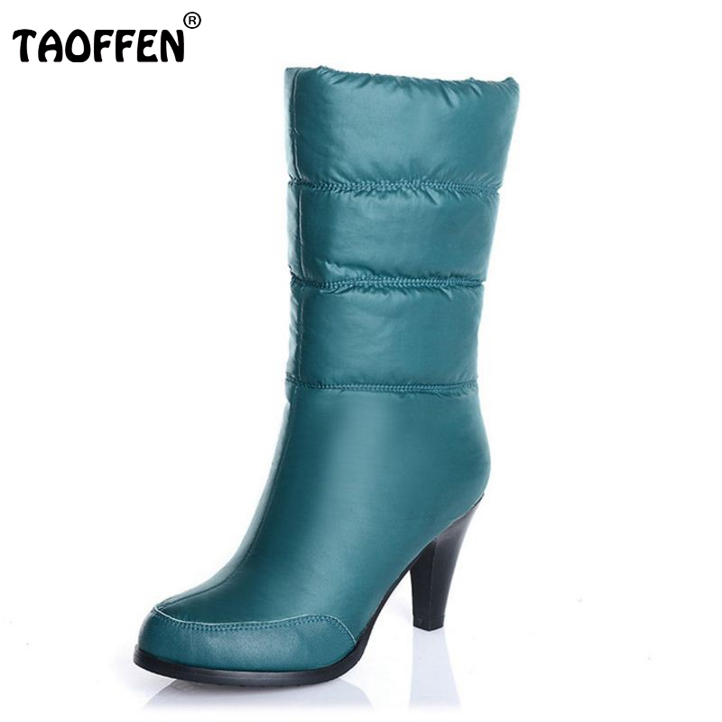 Winter Genuine Real Leather Casual Snow Boots Waterproof Women Plush Half Boots High Heel Boots Fashion Shoes Women Size 34-39 24pc hair styling braid hair snap clips for girls headwear hair ornaments black snap hairgrips hairclip barrettes hairpins clips