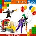 124 unids Nuevo Super Heroes Batman Película 07048 El Comodín Globo escape diy modelo kit de construcción de bloques de juguete regalos compatible con lego