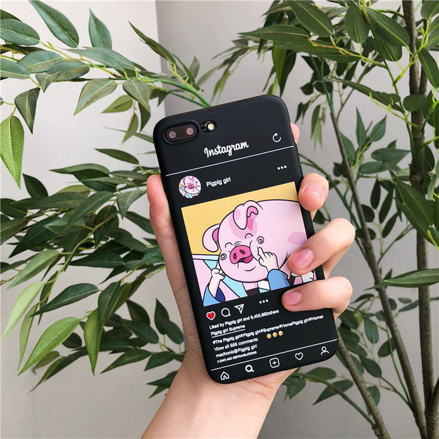 Funny Instagram feed Cute Pig Cartoon Phone Case For iphone