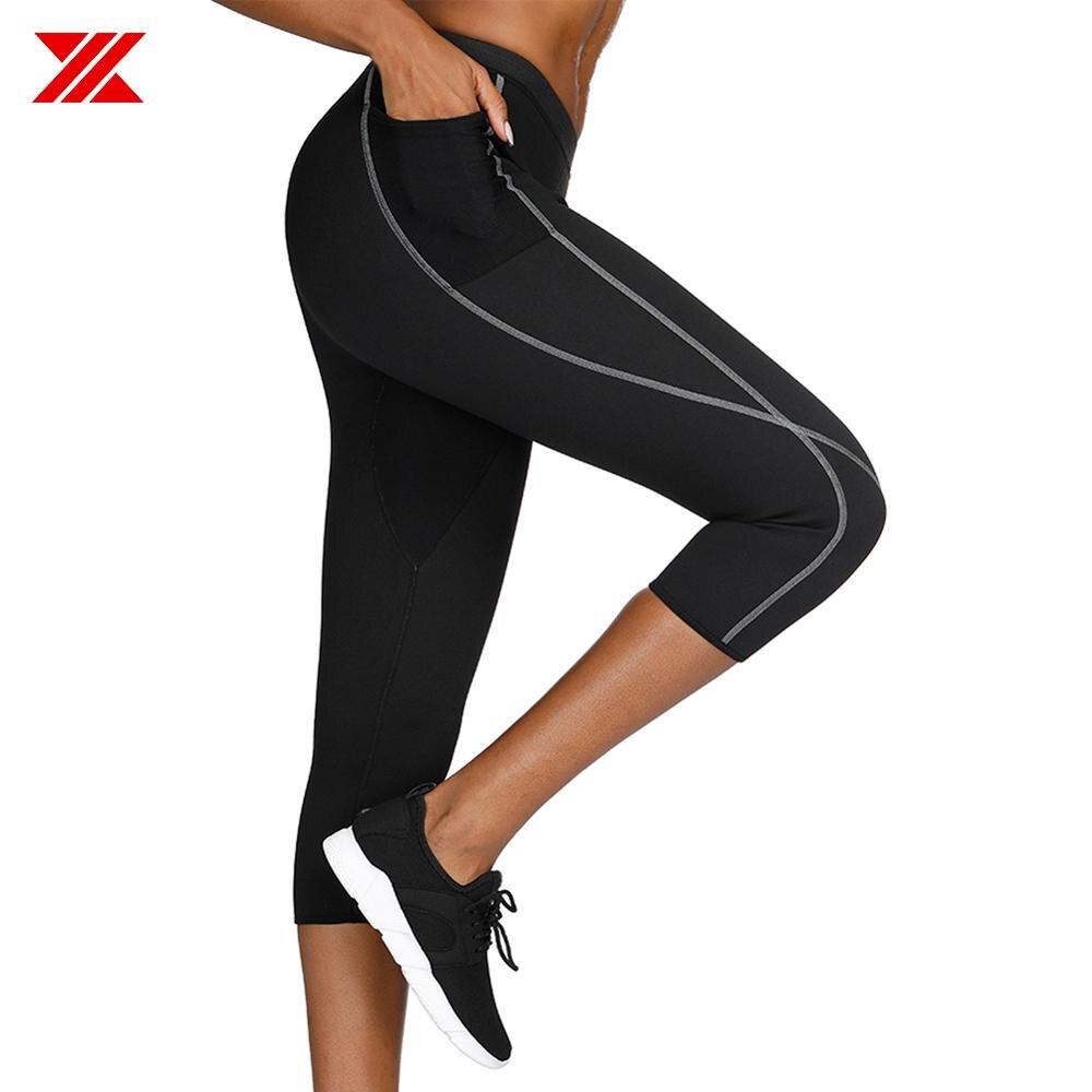 Thermo Sweat Hot Neoprene Body Shaper Pants Slimming Waist Trainer Yoga Vest HT