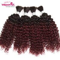 Замечательный Реми волос кудрявый массовых человеческих волос для плетения 1/3/4 Комплект Бесплатная доставка может занять от 10 до 30 дюймо