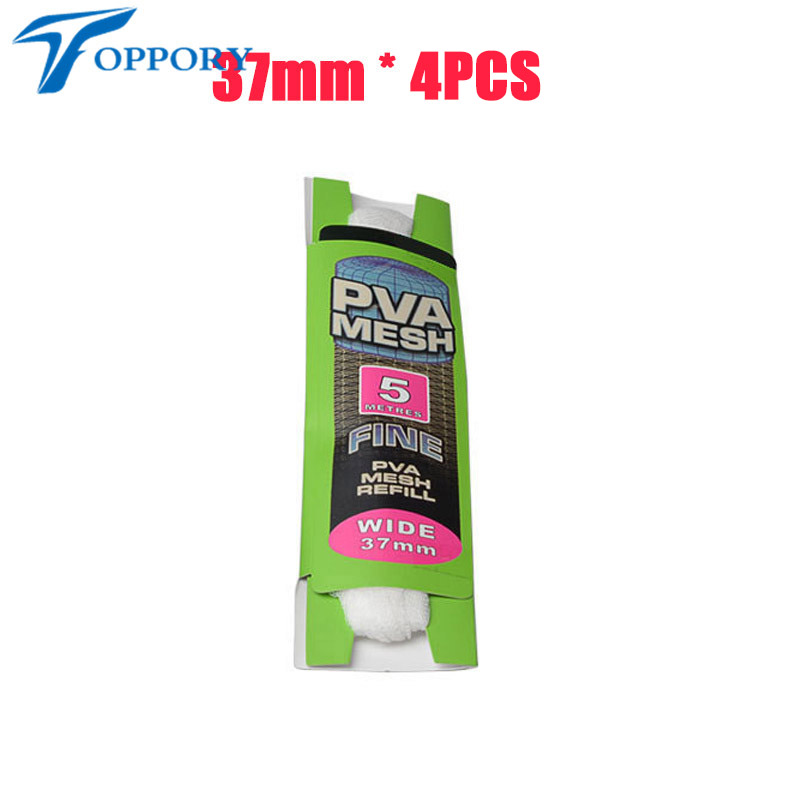 Topproy 4 paquetes / lote Malla de PVA de 5 M 25 mm 37 mm para carpas - Pescando - foto 4