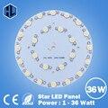 1pce frete grátis 1 W 3 W 5 W 7 W 9 W 12 W 15 W 18 W 21 W 24 W 30 W 36 W LED high power Base de Alumínio Placa radiador Painel de Bordo Circular