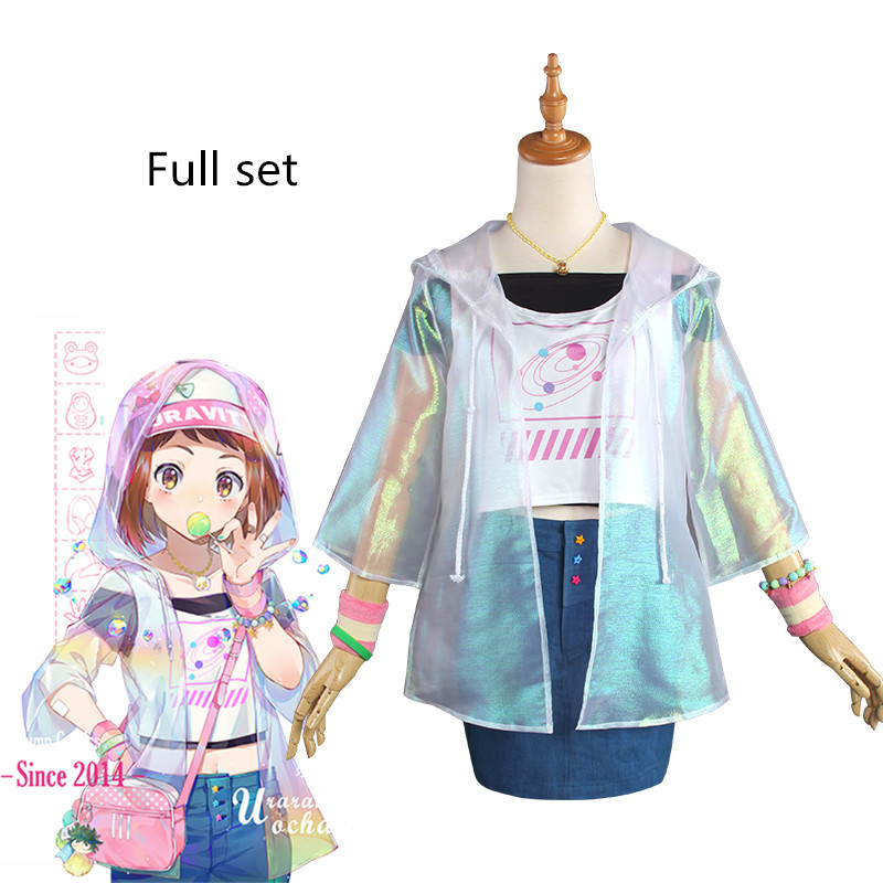 Ochaco Uraraka Cosplay Fashion Version Casual Wear Hero Academia Cosplay Ochaco Uraraka Costume Hero Academia Full Set