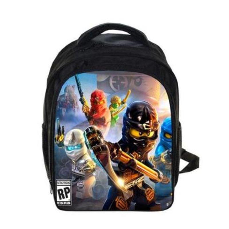 Kids Cartoon Movie Backpack Lego For Boys Girls Backpacks Lego Ninjago Pattern School Bag Kids Daily Backpacks Best Gift Bag