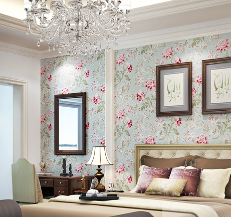 Flower wallpaper for living room peenmedia 2014 vintage country flowers wallpaper roll pure paper living room bedding safa tv background restaurant wall voltagebd Image collections