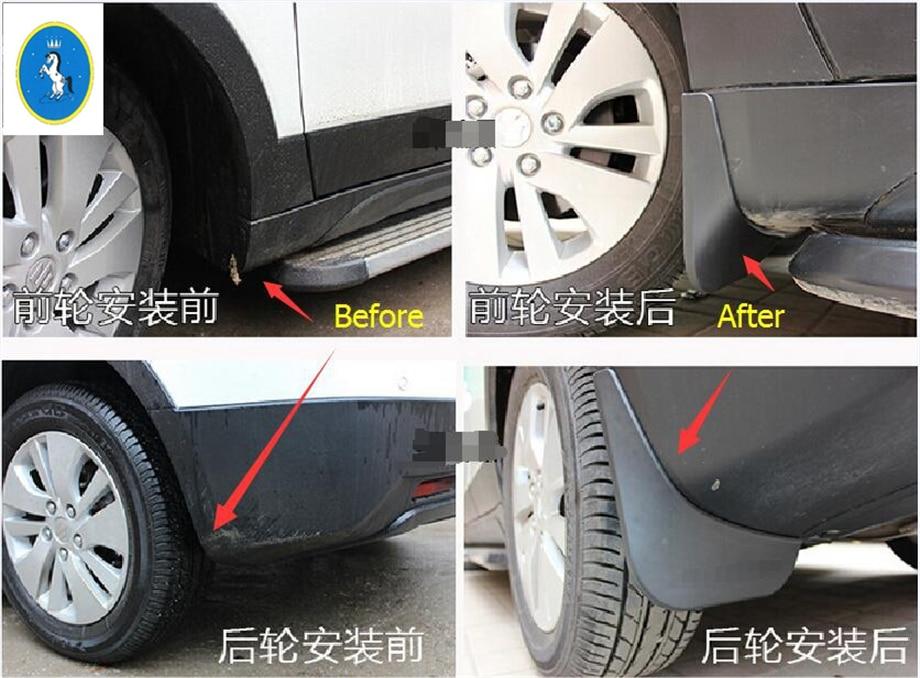 Set of 2 Plasticolor 000529R01 Black Diamond Plate Style Easy Fit Mud Guard 9