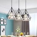 Birdcage pendant lights modern iron minimalist retro light Scandinavian loft pyramid lamp metal cage diameter 25/38cm