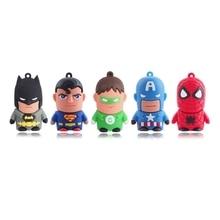 Cartoon Mini heroes usb flash drive gift pen drive 4gb 8gb 16gb 32gb 64gb usb stick usb flash 2.0 memory card disk free ship