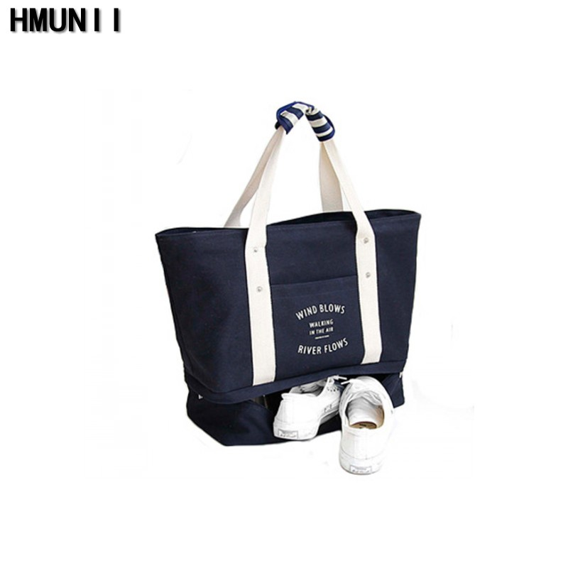 Summer Autumn Folding Travelling Waterproof Tote Bag Large Canvas Shoulder Bag Travel Bag Shopping Bag