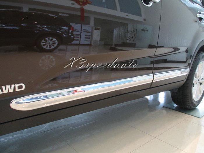 Revêtement d'habillage de moulage de corps de porte latérale en plastique ABS chromé 4 pièces pour Kia Sorento 2013 2014