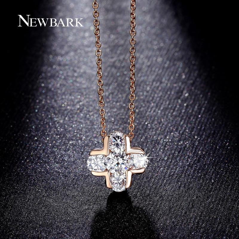 NEWBARK Classic Cross Design Pendant Necklaces 5Pcs AAA CZ Is