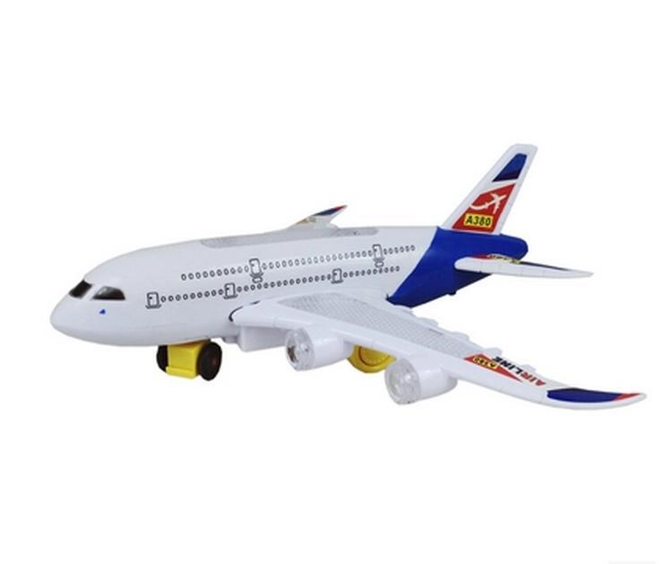 Electric Light Music Airbus Educational Toys Children Toy Plastic Electronic Flashing Model Battery Operated
