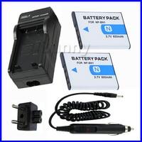 2 Battery + Charger for Sony Cyber shot DSC WX7 W610 W620 W630 W650 W690 W710 W730 DSC QX10 QX30 QX100 Digital Camera
