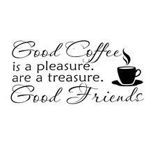 carcter buen caf amigos etiqueta de la pared simple estilo fuentes del hogar de la familia