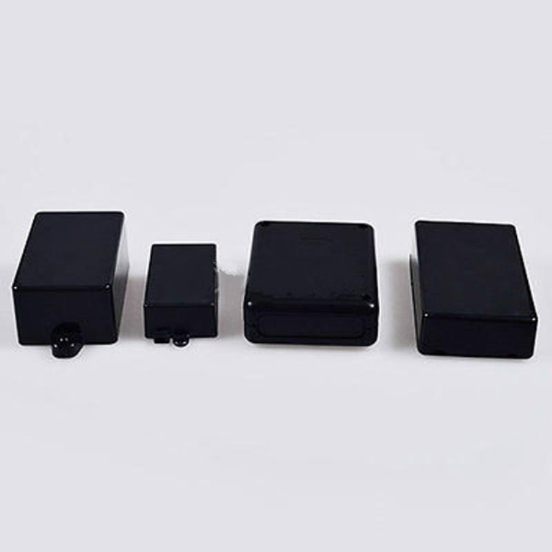 Black Built-in Hole Electronic Project Instrument Case Waterproof Plastic Enclosure Box 4 Sizes 1pc waterproof enclosure box plastic electronic project instrument case 200x120x75mm
