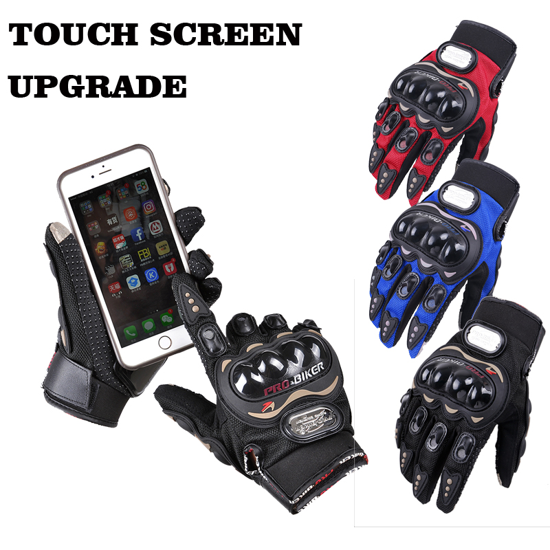 New arrival touch screen motorcycle gloves MCS-01C full finger moto cross gloves guantes luvas XXL plus size