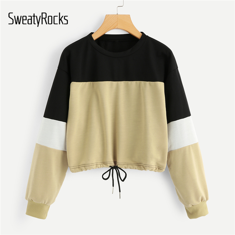 MetCuento Women Good Vibes Sweatshirt Round Neck Long Sleeve Pullover Blouses Top Casual T Shirts with Pockets
