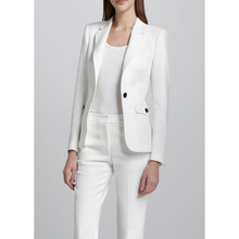 New Women's One Buttons Business Suit Custom made 2 Pieces White Suit Jacket+pants