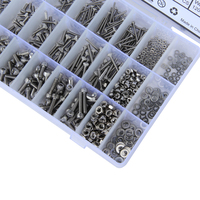 1080pcs/Lot M2 M3 M4 Button Head Hex Socket Screw Bolt Nut Stainless Steel 304 Screws Nuts Assortment Kit Fastener Hardware