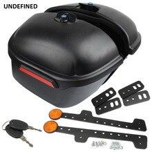 Motorcycle Luggage Trunk Side Box Case Saddle Bag Case For Honda Kawasaki Yamaha Victory DS400 650 1100 BoltXVS950 Universal