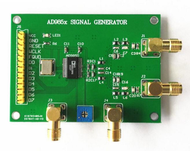 US $14 4 |DDS Module AD9851 AD9850 Development Board Signal Generator  Frequency Synthesis Send Schematic Program-in Replacement Parts &  Accessories