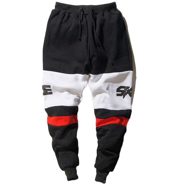 Новый 2017 Модные Мужские Бегунов Печатных мужской Повседневная Hip Hop Багги Jogger Брюки Свободные Спортивные Штаны Мужчины Брюки Pantalon Homme Z10