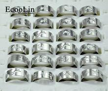 15 шт модные мужские ажурные кольца с гравировкой из нержавеющей