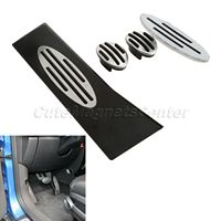Car Styling Stainless Steel Car Pedals Foot Rest Gas Fuel Brake Clutch Pedal Plates Manual For