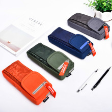 Deli Zipper Pencil Bags Lengthen High Capacity Pencil Bag Student Pencil Cases Stationery Storage Box School and Office Supplies