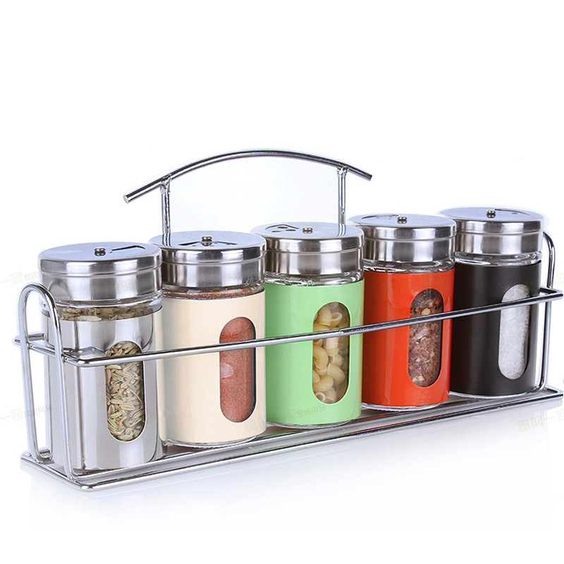 glass spice jar rack - Glass Spice Jars