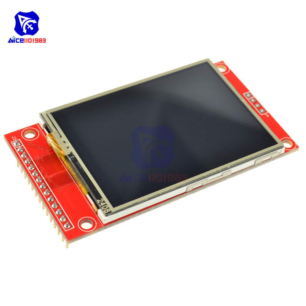 2.4 Inch SPI TFT LCD Screen Module 240x320 Touch Panel Serial Port Module With PBC ILI9341 3.3V/5V For Arduino