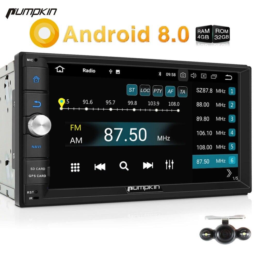 Citrouille 2 Din Android 8.0 Universel De Voiture Radio Aucun Lecteur DVD GPS de Navigation Bluetooth Voiture Stéréo 4 GB RAM 32 GO ROM Wifi Headunit