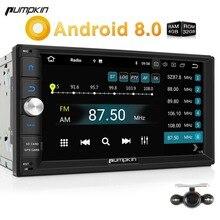 Тыквы 2 Din Android 8,0 универсальный автомобильный Радио нет dvd-плеер gps навигации Bluetooth 4 ГБ Оперативная память стерео Qcta -core 4 г головного устройства