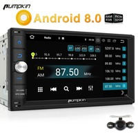 Pumpkin 2 Din Android 8.0 Universal Car Radio No DVD Player GPS Navigation Bluetooth Car Stereo 4GB RAM 32GB ROM Wifi Headunit