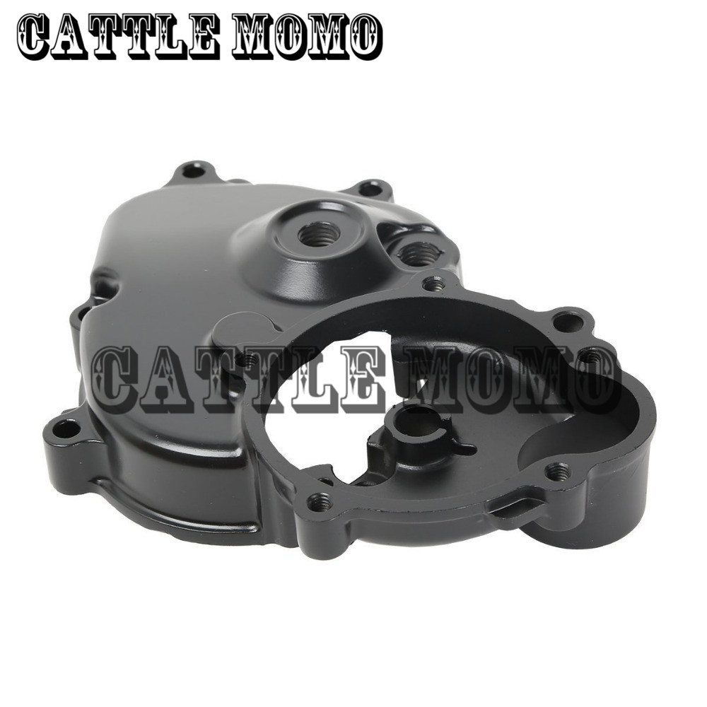 Aluminum Engine Crankcase Starter Cover with Gasket For Kawasaki Ninja ZX6R ZX-6R ZX600 2009 2010 2011 Engine Starter Cover aluminum water cool flange fits 26 29cc qj zenoah rcmk cy gas engine for rc boat