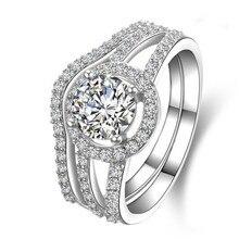 TRS009 2 карат NSCD Имитация gem Обручение кольца для женщин,