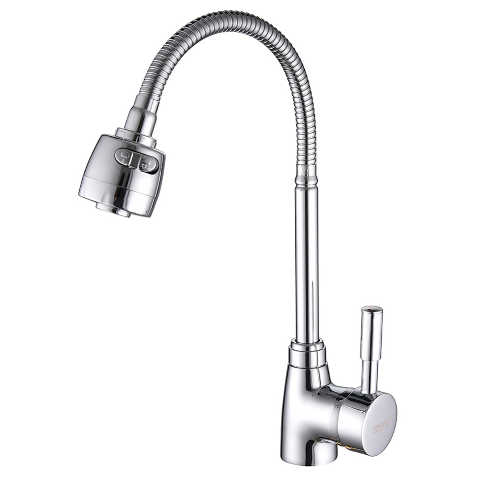 SHAI Brass Mixer Tap Cold And Hot Water Kitchen Faucet Kitchen Sink Tap Multifunction  Brass Body Chrome Sink Faucets SH3201