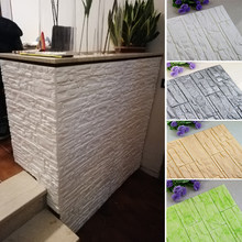 DIY 3D Brick PE Foam Wall Stickers Panels Room Decal Stone Decoration Embossed Living Room Kids Safty Bedroom Home Decor(China)