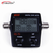 Digital VHF/UHF Power & SWR Meter / Frequency Counter HF 1.6-60MHz 200W M Type Connector For Handheld Radios Walkie Talkie