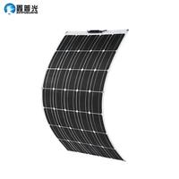 100W Solar Panel 100 Watt 200W 300w 400w Semi Flexible Monocrystalline PV Module for 12V Battery RV Yacht Car Home Charge
