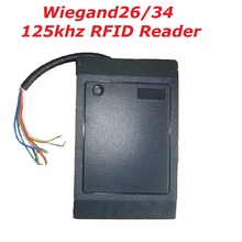 Waterproof Wiegand 26 / 34 Proximity 125KHz WG26/ WG34 Smart  EM4100 RFID Card Reader Wholesale Door Access Control System Black