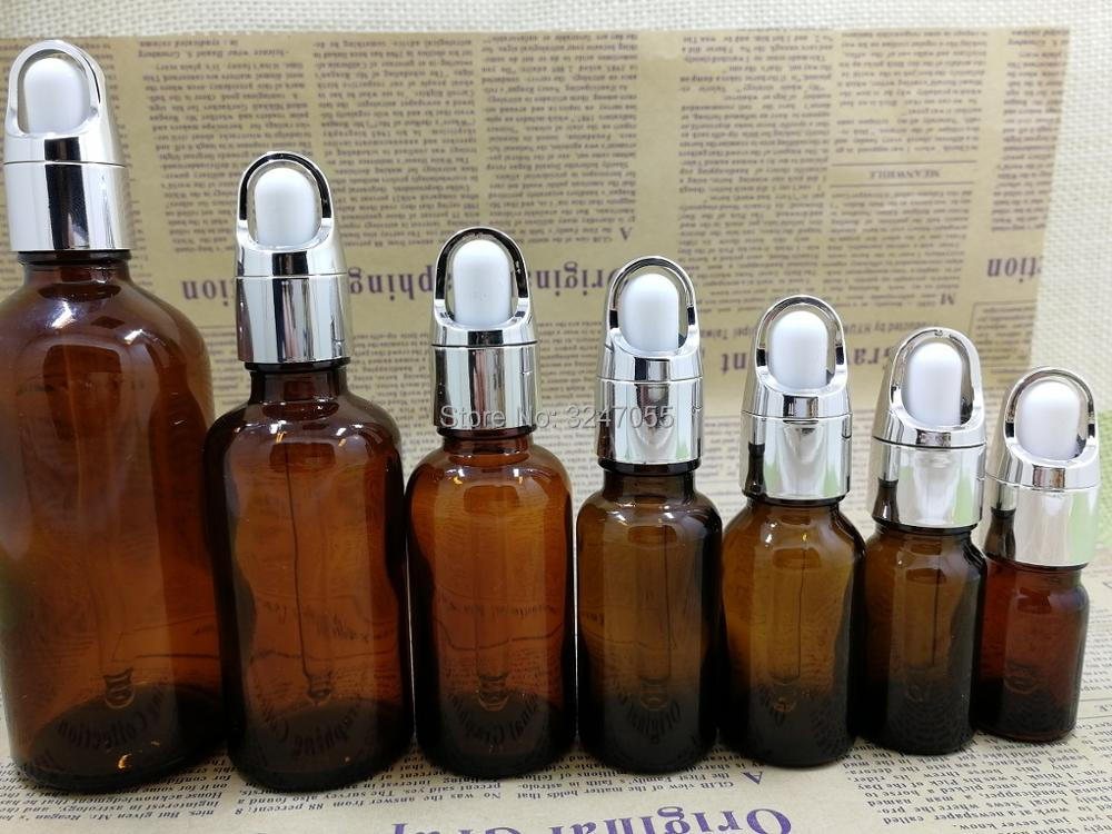 Empty Brown Glass Bottle for Essential Oil, DIY Amber Vial Droppers with Glass Pipettes, 5/10/15/20/30/50/100ml Dropper Vials 5pcs lot 2ml small brown empty wishing glass bottle drifting bottle message vial with cork stopper vials jars containers