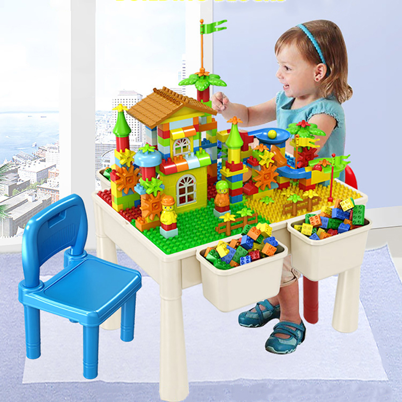 New Study Table Model Building Blocks Bricks Childrens Multi-functional Assembly Building Table Model Toys For Children UG500New Study Table Model Building Blocks Bricks Childrens Multi-functional Assembly Building Table Model Toys For Children UG500