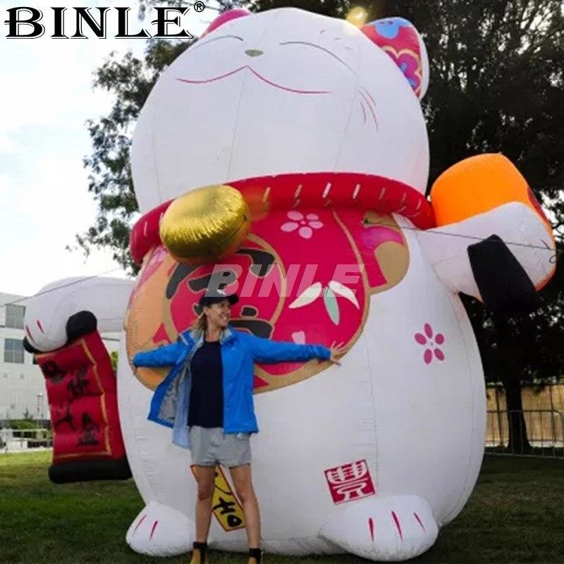 Le plus populaire attrayant magasin décoration géant gonflable chat chanceux gonflable fortune chat publicité mascotte à vendre